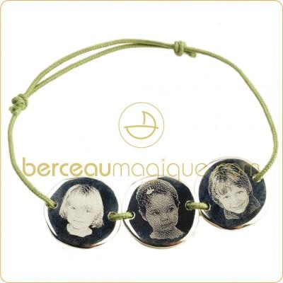 bracelet-cordon-plaque-ronde-3-enfants-argent-massif