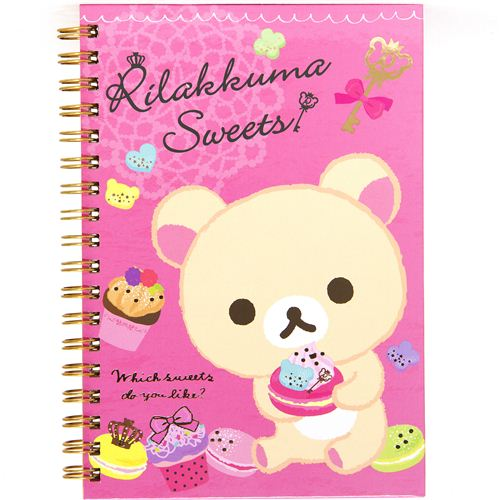 Rilakkuma-white-bear-ring-binder-notebook-macaroon-168276-1