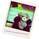 DIY un nounours en pompons – Défi home made 2012 – août
