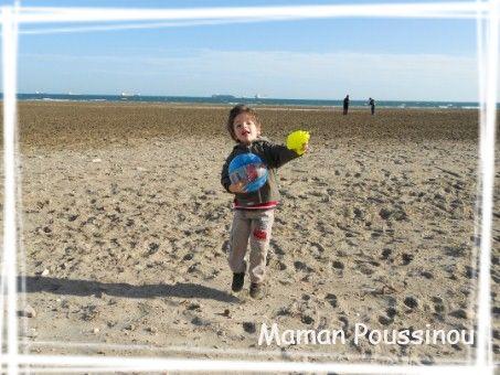 Poussins à la plage