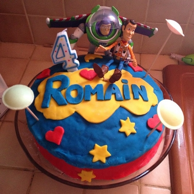 gâteau anniversaire Toy Story , 4 ans