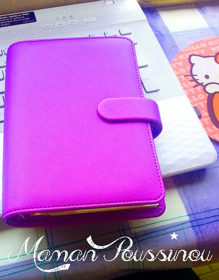 filofax personal saffiano violet vif