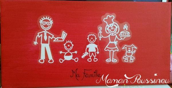 Concours - votre famille en stickers à gagner et un DIY pour en faire un joli tableau