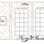 DIY : Les mois de avril, mai et juin sur deux pages et leur intercalaire mensuel à imprimer pour ton agenda (filofax) #12