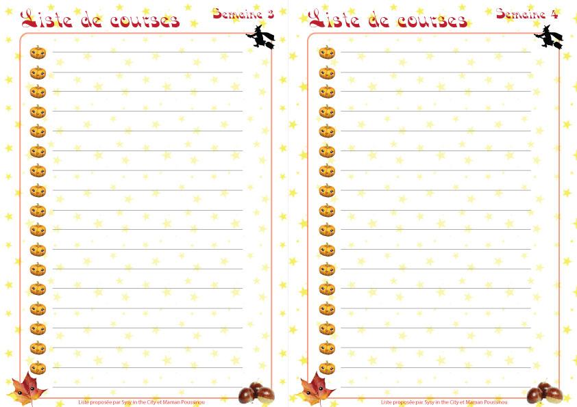 Häufig Planning des menus mensuels d'octobre à imprimer XB44