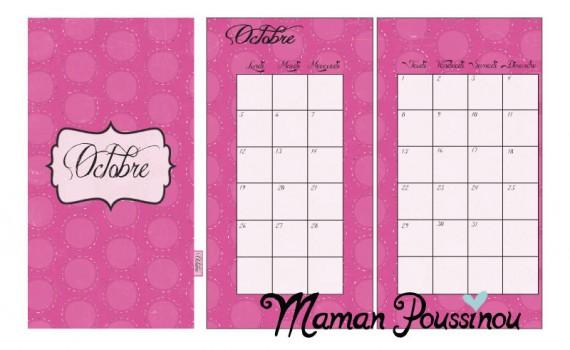 Les pages mensuelles du 4ème trimestre à imprimer pour vos agendas et filofax