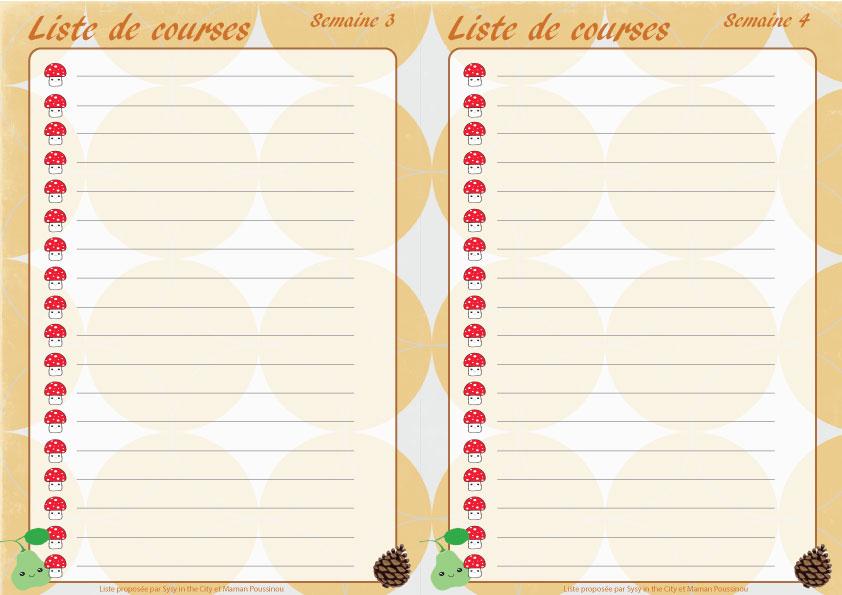 Planning des menus mensuels de novembre imprimer - Liste de course a imprimer ...