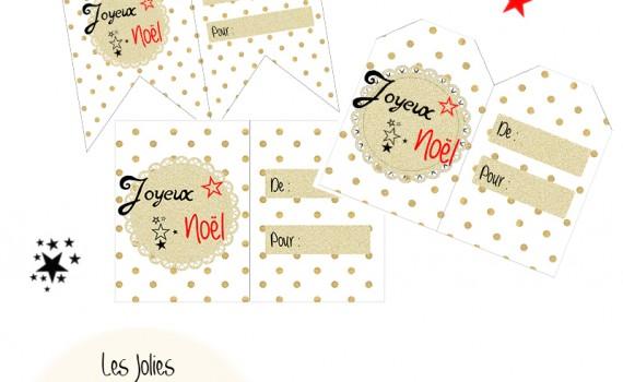 étiquettes cadeaux noel