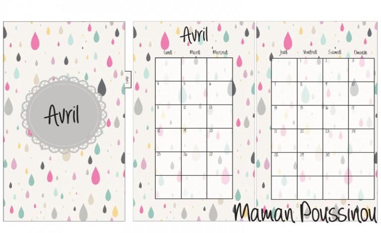 DIY : Les mois de avril, mai et juin 2016 sur deux pages et leur intercalaire mensuel à imprimer pour ton agenda (filofax) #16