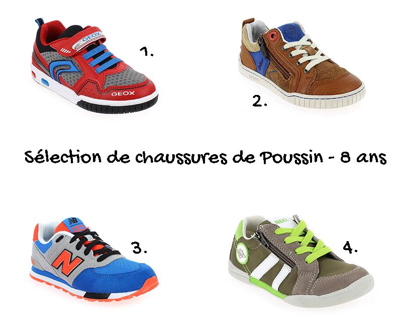 sélection de chaussures garçon 8 ans