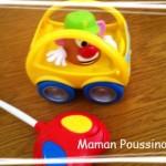 La 1ère voiture télécommandée de Poussin