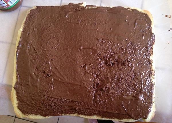 gâteau roulé étape 3 garnissage