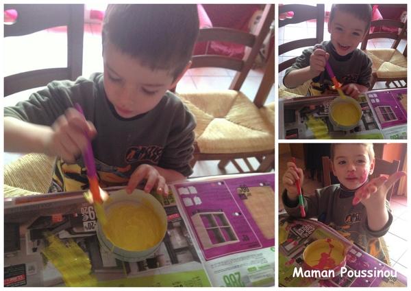 peinture avec enfant