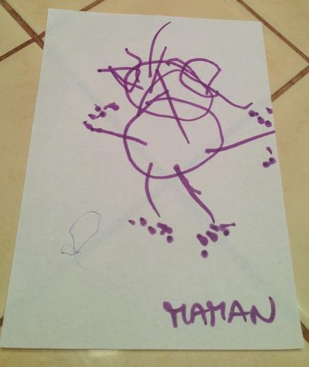 dessin de maman par Poussin 4 ans