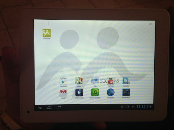 tablette avec application ECOLEMS