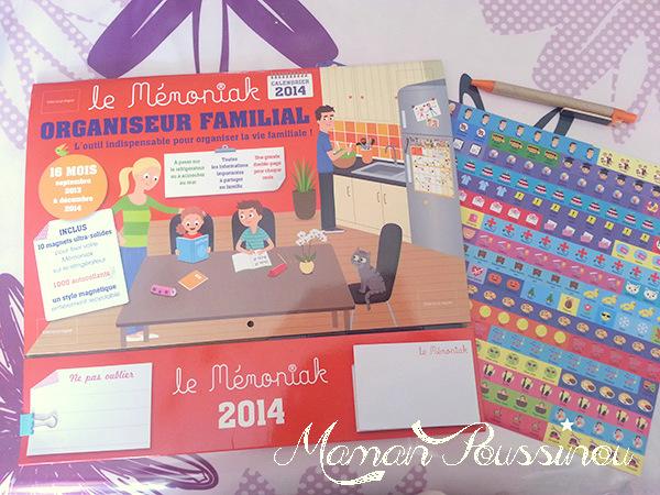 Pour être une maman organisée et ne rien oublier, j'ai mon Mémoniak – Cadeau dedans