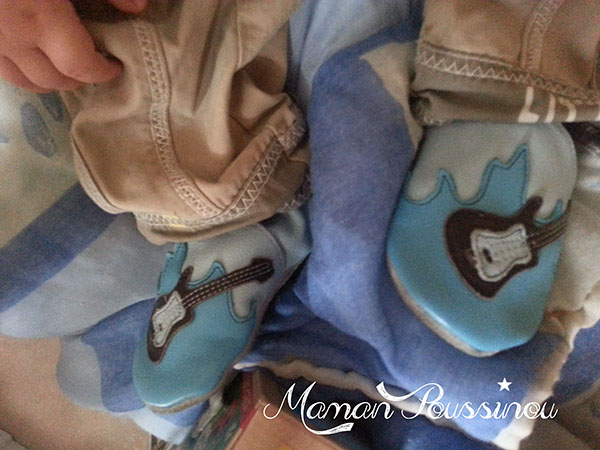 chaussons cuir souple bebe