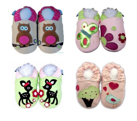 sélection chaussons en cuir souple filles