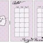 DIY : Le mois de juillet sur deux pages et un intercalaire mensuel à imprimer pour vos agendas (filofax) #7