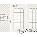 DIY : Le mois d'août sur deux pages et un intercalaire mensuel à imprimer pour vos agendas (filofax) #8