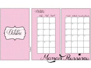 DIY : Les mois d'octobre, novembre et décembre sur deux pages et leur intercalaire mensuel à imprimer pour ton agenda (filofax) #10