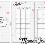 DIY : Les mois de juillet, août et septembre 2015 sur deux pages et leur intercalaire mensuel à imprimer pour ton agenda (filofax) #13