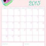 DIY : le calendrier du mois de septembre 2015 à imprimer
