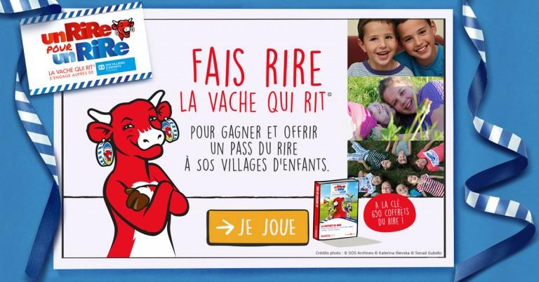Un rire pour un rire pour SOS Villages d'Enfants avec La vache qui rit®