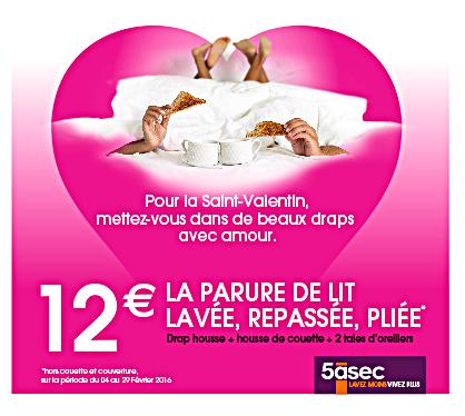 De beaux draps pour la Saint Valentin avec 5àsec – #Cadeau