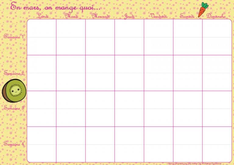 En mars, on mange quoi ? – menus mensuels (pour vos agendas aussi) #8