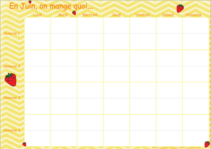 En juin, on mange quoi ? – menus mensuels #11