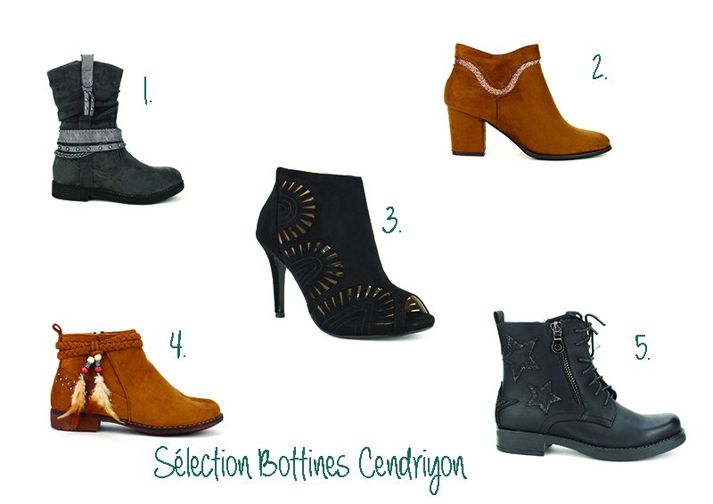 sélection bottines cendriyon