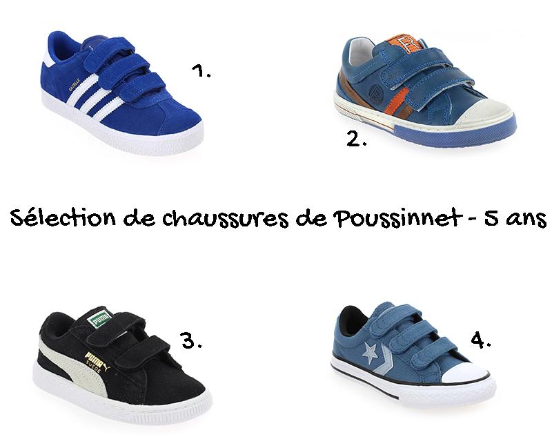 sélection de chaussures garçon 5 ans