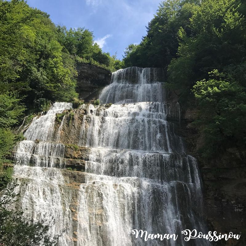 Vallée du Hérisson – la Cascade de l'Eventail dans le Massif du Jura