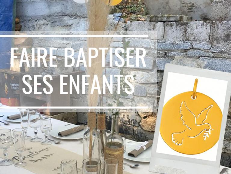 Faire baptiser ses enfants
