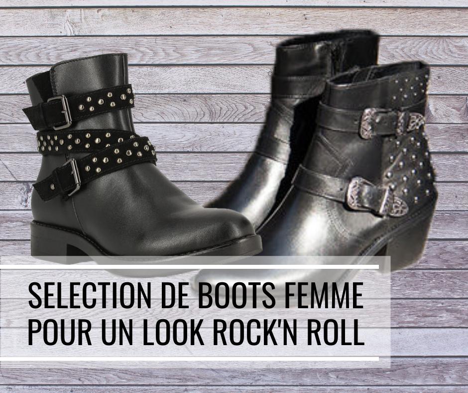 Sélection de boots pour femme pour un look Rock'n Roll