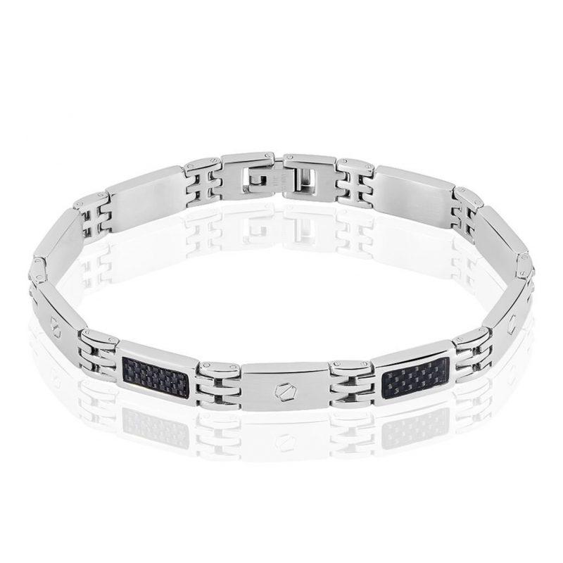 bracelet-acier-blanc-et-noir
