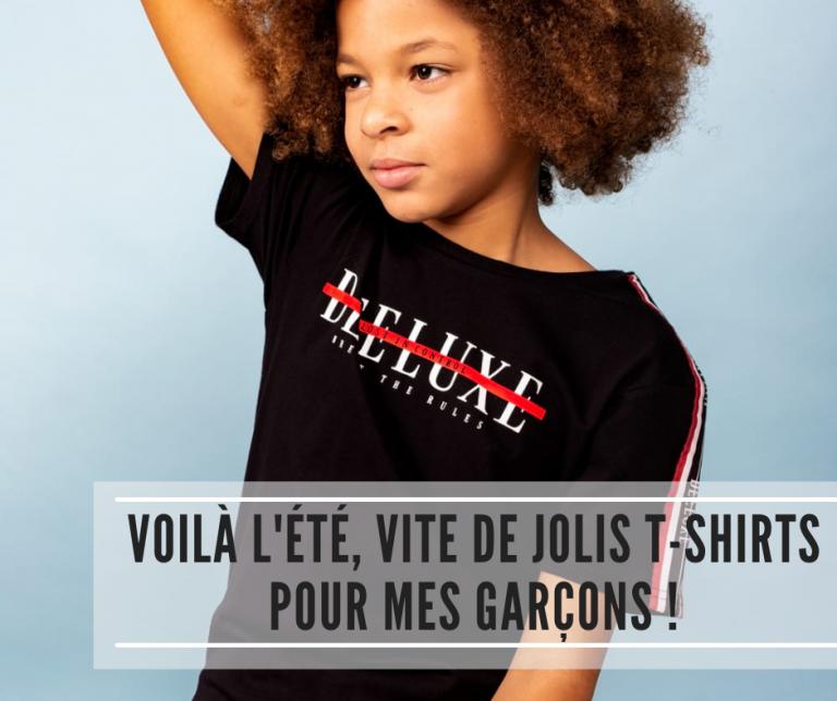 Read more about the article Voilà l'été, vite de jolis t-shirts pour mes garçons !