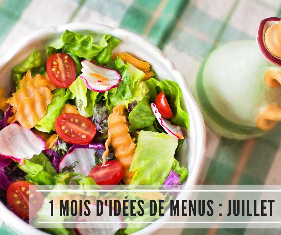 You are currently viewing 1 mois d'idées de menus : Juillet