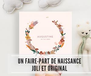 Read more about the article Un faire-part de naissance joli et original avec Popcarte